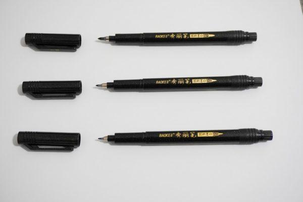 3 brush pens